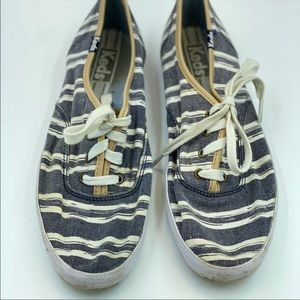 Keds Striped Sneakers Size 7.5